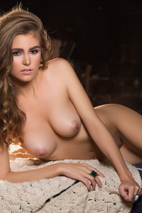 Amberleigh West Naked By The Fireplace 11