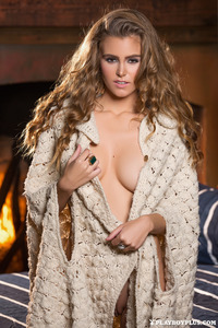 Amberleigh West Naked By The Fireplace 13