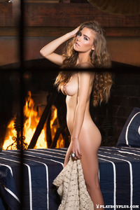 Amberleigh West Naked By The Fireplace 14