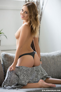 Linda Poses Nude On A Couch 02