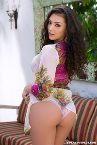 Busty Brunette Playmate Kelsi Shay 00
