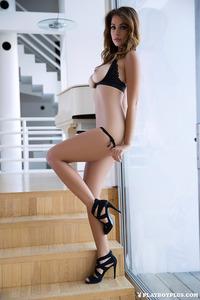Leggy Brunette Playboy Babe Ali Rose 05