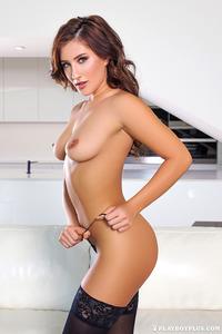 Sexy Playboy Newcomer Dacia Maria Strips 06