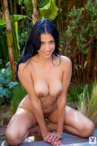 Ana Ramirez In The Garden With Sexy Tits  14