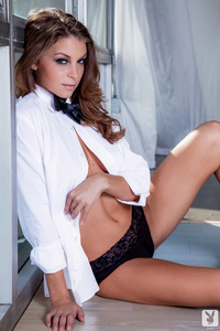 Playboy Babe Amber Sym Bow Tie Beauty 11