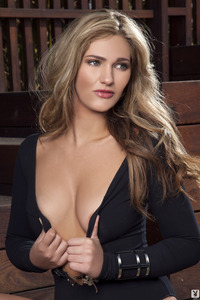 Lovely Playboy Babe Charlotte Rose - Terrace Tendancies 01