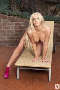 Sexy Blond Cybergirl Nicolette Shea Backyard Bombshell 15