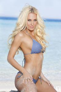 Gorgeous Blond Playboy Babe Jennifer Vaughn In Ocean Blue 00