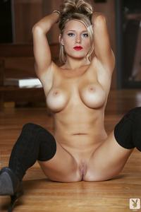 Breathtaking Playboy Babe Kerry Lynn Midnight Strip 16
