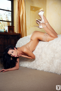 Plyaboy Cybergirl Nicolette Novak Shows Her Fantastic Long Legs 17