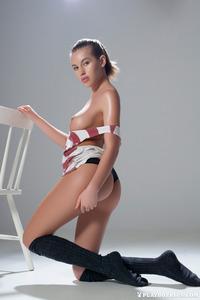 Katia Martin Posing Naked In The Studio 01