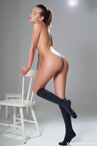 Katia Martin Posing Naked In The Studio 17