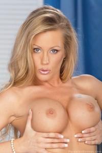 Big Tit Blonde Pornstar Strips Her Lingerie 14