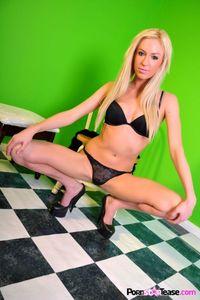 Victoria White Sexy Black Lingerie 03