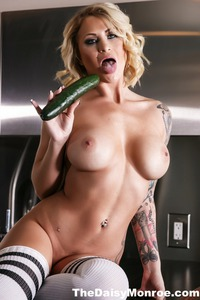 Blonde Tattooed Babe Daisy Monroe 03