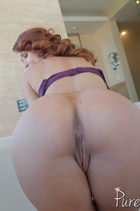 Busty Redhead MILF Sabrina Cyns Strips In The Bathroom 15