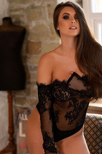 Sarah McDonald In Black Babydoll 10