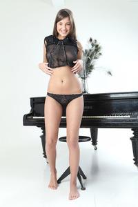 Brunette Angel Maria Rya On The Piano 01