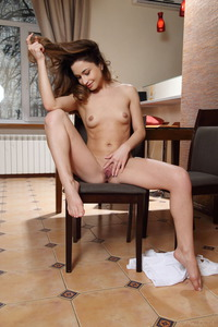 Skinny Brunette Susie Plays With Her Pussy 14
