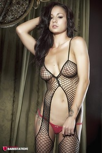 First Class Babe Mica Martinez Hot In Fishnet 01
