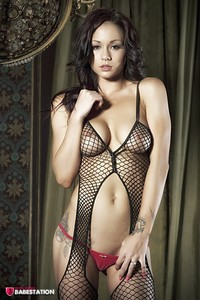 First Class Babe Mica Martinez Hot In Fishnet 02
