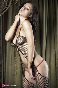 First Class Babe Mica Martinez Hot In Fishnet 03