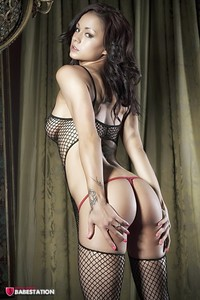 First Class Babe Mica Martinez Hot In Fishnet 04