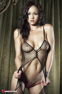 First Class Babe Mica Martinez Hot In Fishnet 05