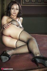 First Class Babe Mica Martinez Hot In Fishnet 07