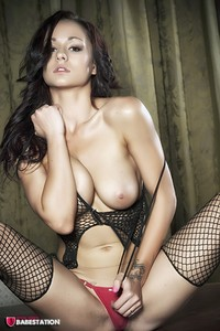 First Class Babe Mica Martinez Hot In Fishnet 12
