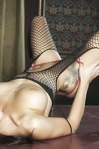 First Class Babe Mica Martinez Hot In Fishnet 15