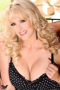 Stormy Daniels Polka Dot Dress 07