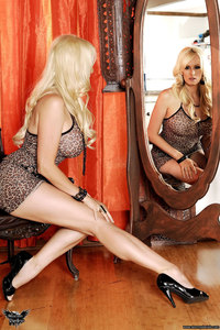 Stormy Daniels Strips In Front Of The Mirror 10