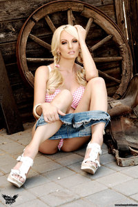 Stormy Daniels Denim Shorts 02