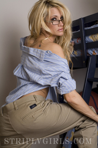 Busty Jessica Drake Sexy In Her Glasses 00
