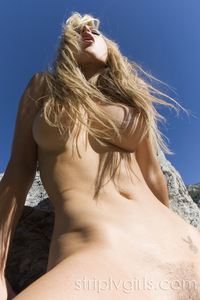 Kayden Kross Strips Nude At The Rocks 07