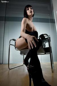 Sofia Valentine In Black Corset And Stockings 05