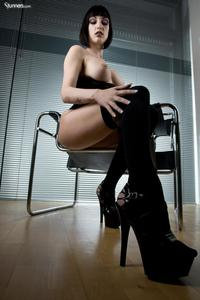 Sofia Valentine In Black Corset And Stockings 06