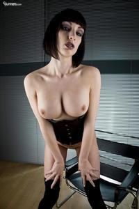 Sofia Valentine In Black Corset And Stockings 07