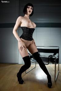 Sofia Valentine In Black Corset And Stockings 08