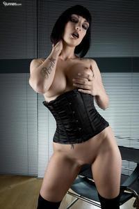 Sofia Valentine In Black Corset And Stockings 09
