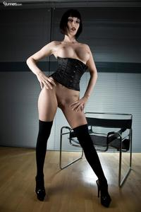 Sofia Valentine In Black Corset And Stockings 10