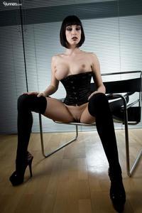 Sofia Valentine In Black Corset And Stockings 11