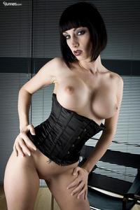 Sofia Valentine In Black Corset And Stockings 12