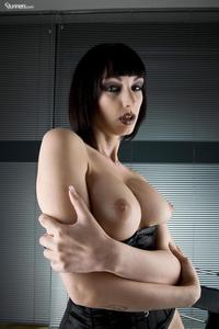 Sofia Valentine In Black Corset And Stockings 14