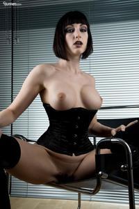 Sofia Valentine In Black Corset And Stockings 15