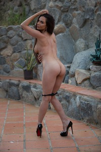 Kirsten Price Gets Nude Outside 08
