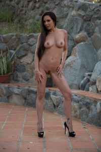 Kirsten Price Gets Nude Outside 10
