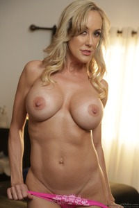 Busty Blonde MILF Brandi Love Strips 06