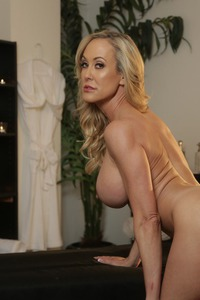 Busty Blonde MILF Brandi Love Strips 08